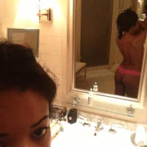 sexy actress gabrielle union showing off her ass in mirror