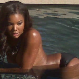 the gorgeous gabrielle union topless in a pool
