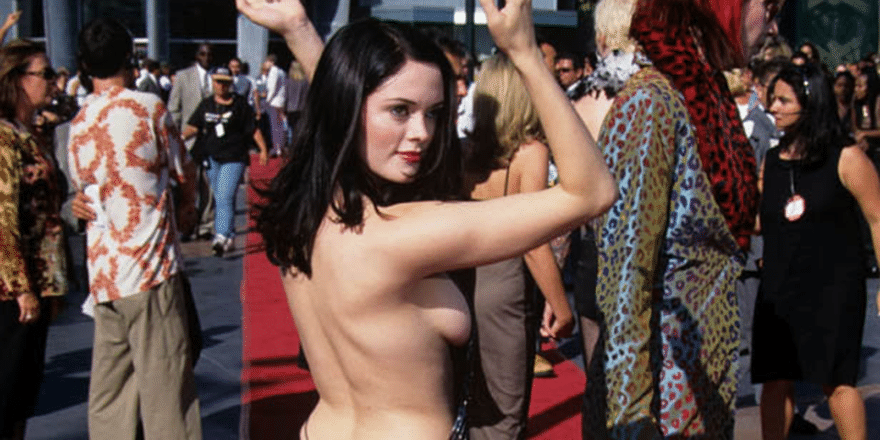 gorgeous rose mcgowan looking hot and showing off side boob