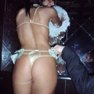 The hypnotic Lady Gaga in a gold thong