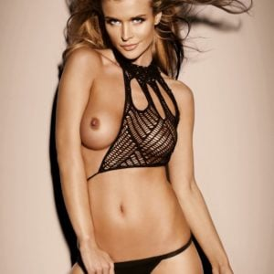 The talented Joanna Krupa in see through top and showing a nipple