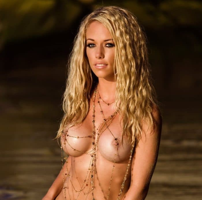 Kendra hard nipples with necklaces all over her body
