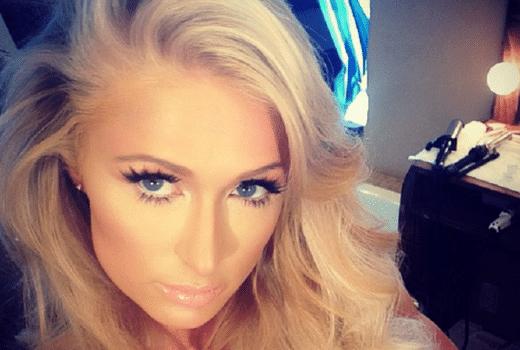 Paris Hilton close up selfie