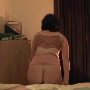 The ravishing Scarlett Johansson showing her ass off in a dark room