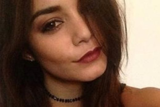 Vanessa Hudgens selfie with red lips