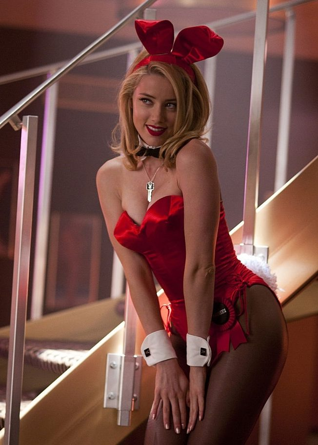hot pic of amber heard in playboy outfit