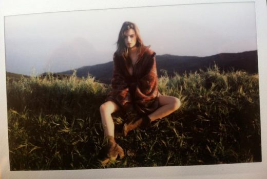 Emliy Ratajowski polaroid for Galore Magazine