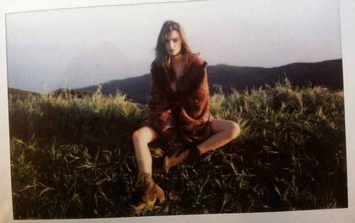 Emliy Ratajowski polaroid for Galore Magazine