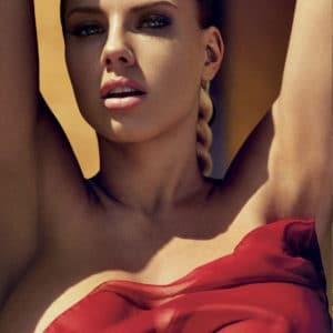 GQ Mexico photoshoot of Charlotte Mckinney and nipples exposed in see through top