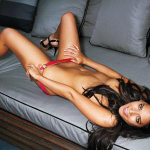 Olivia Munn taking off panties