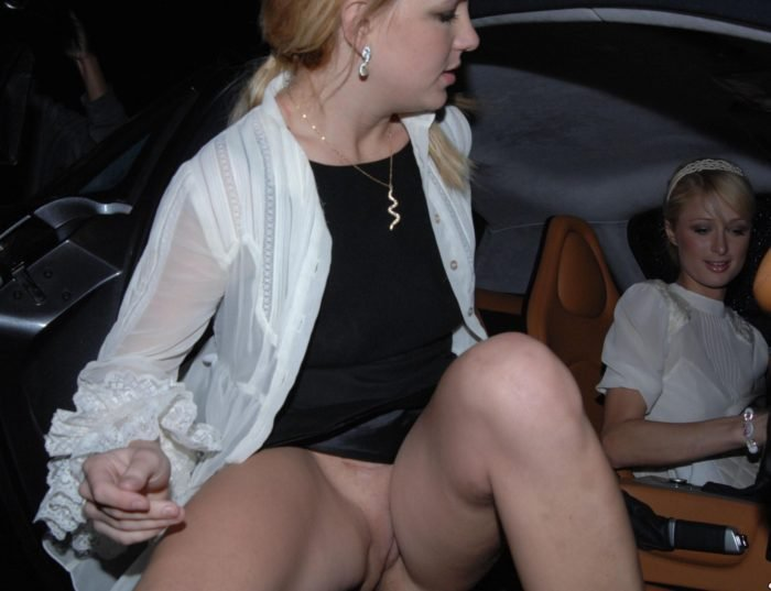 Pussy Slip Britney Spears getting out of car with Paris Hilton in the driver seat