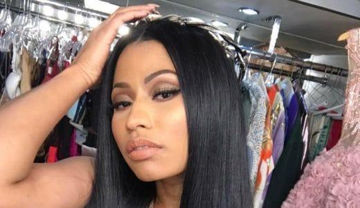 Twitter picture of Nicki Minaj giving a seductive look