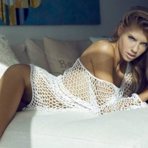 hottie charlotte mckinney modeling in bed for megan claire magazine