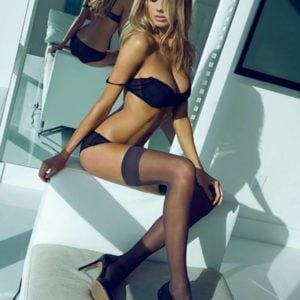 insanely sexy pic of charlotte mckinney in high thighs for megan claire photoshoot