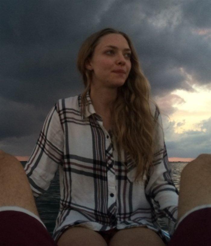 Amanda Seyfried in a plaid shirt
