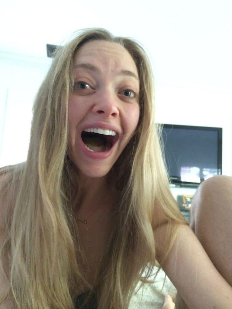 Amanda Seyfried mouth open