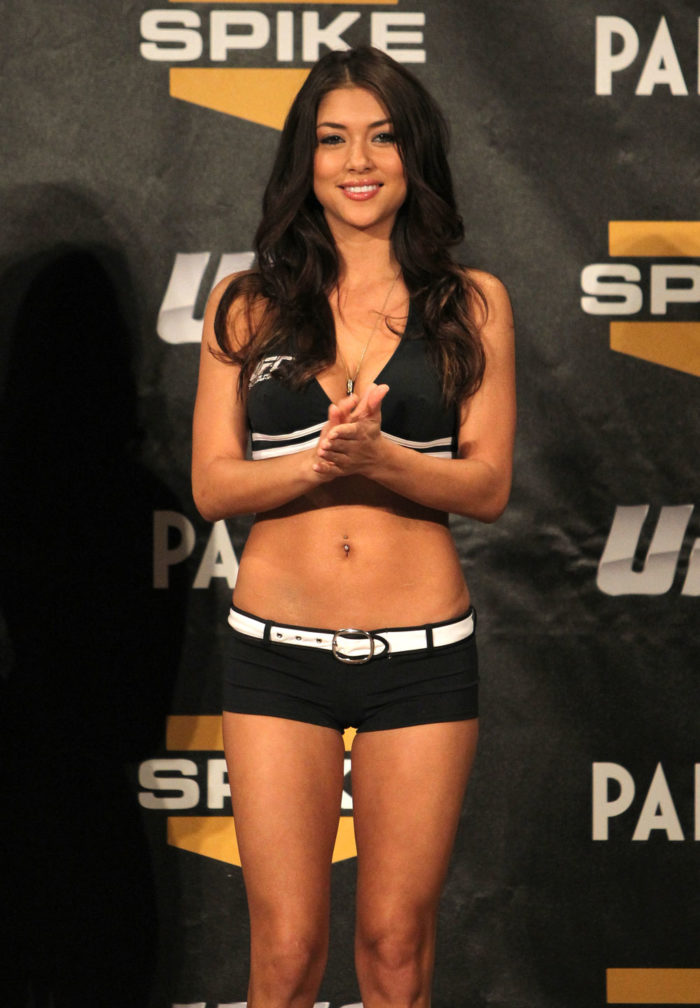 Arianny Celeste wearing UFC outfit