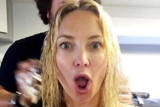 Kate Hudson with mouth wide open