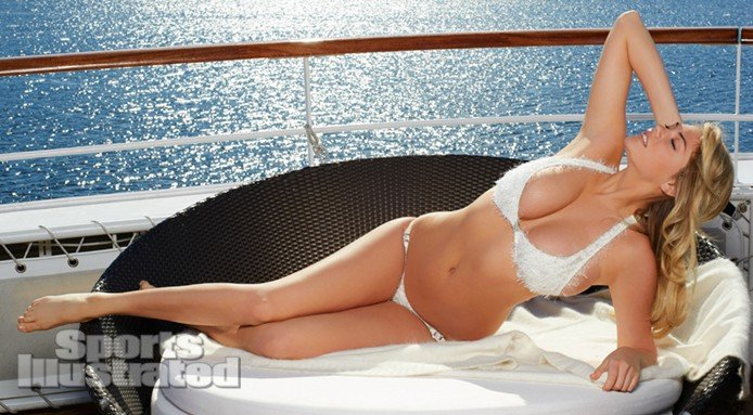 Kate Upton cleavage revealed in bikini photoshoot with SI