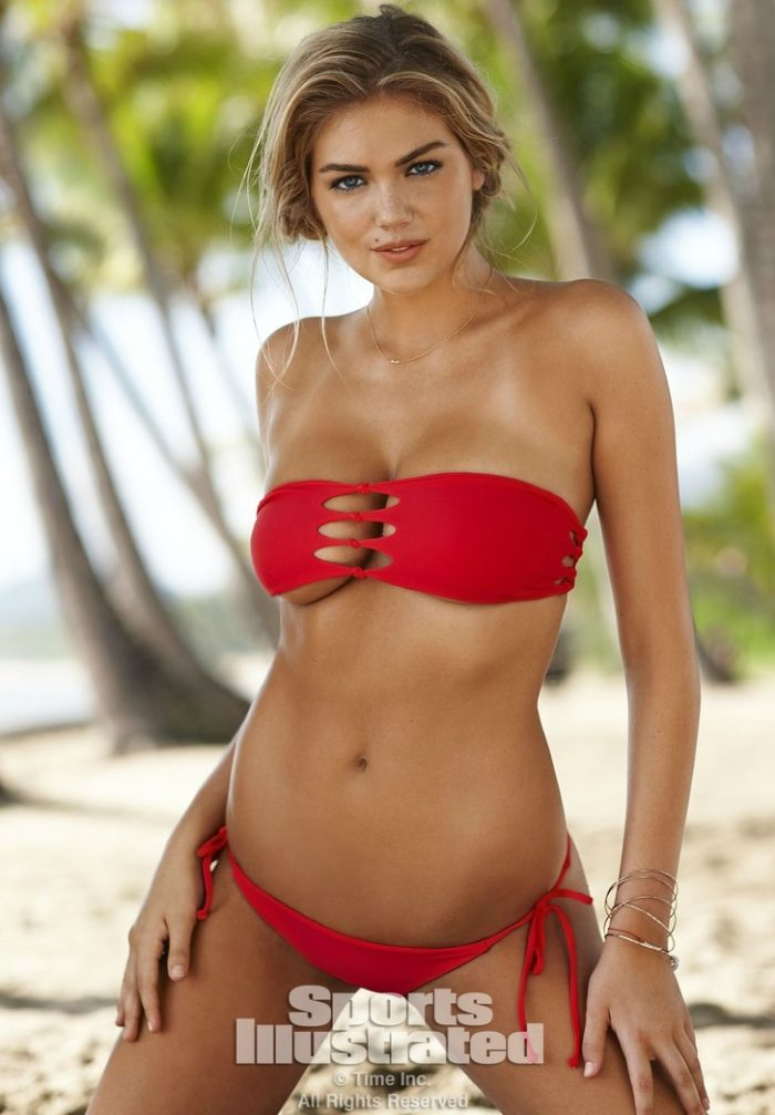 Kate Upton in red bikini for SI swimsuit edition