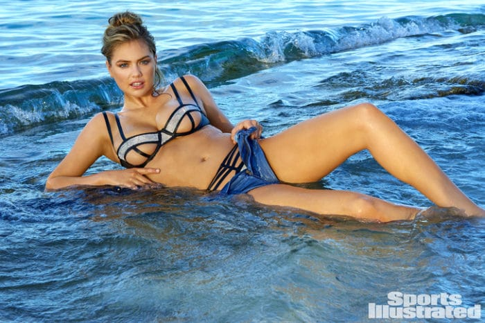 Kate Upton in sexy cut out bikini top in Fiji