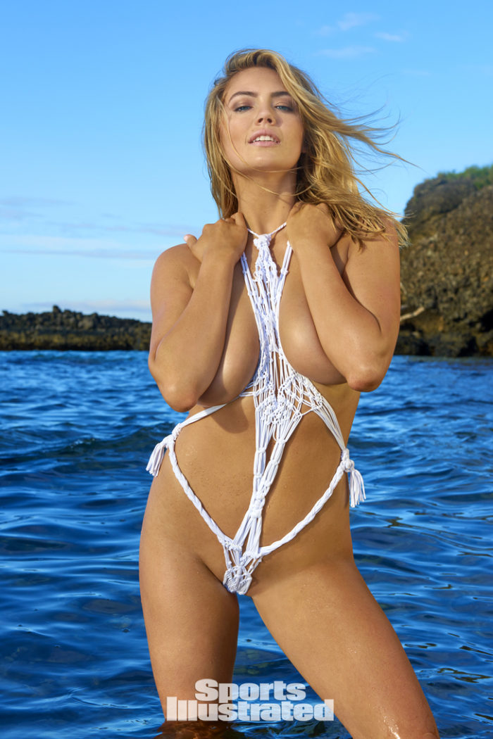 Kate Upton modeling scandalous swimsuit in Fiji