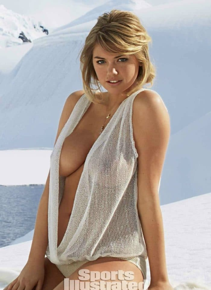 Kate Upton see through top in 2013 Antartica Sports Illustrated photo