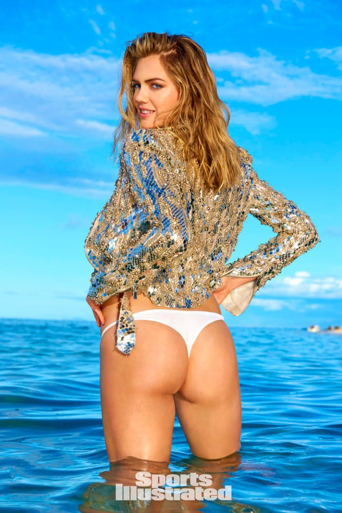 Kate Upton shows us her ass cheeks in Fiji for SI swimsuit edition