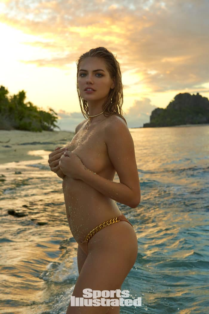 Kate Upton topless in Fiji