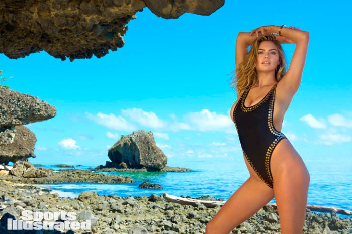 Kate Upton wears one piece bikini
