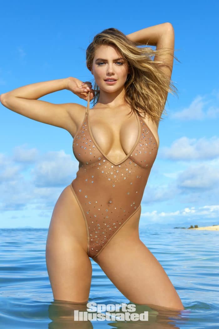 Kate Upton wears see through bikini and shows off her huge tits