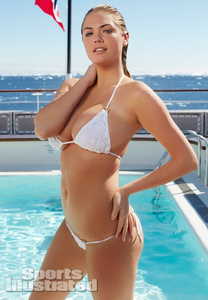Kate Upton wet in Antartica in pool