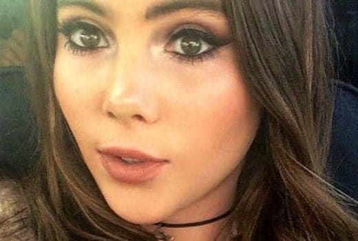 McKayla Maroney taking selfie in car
