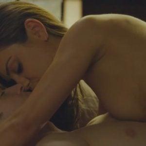 Mila Kunis topless on top of Justin Timberlake