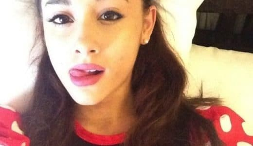 Ariana Grande tongue out selfie