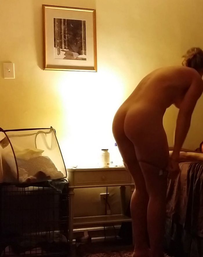Deborah Ann Woll getting undressed