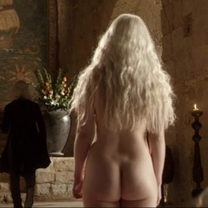 Emilia Clarke standing in the nude ass showing