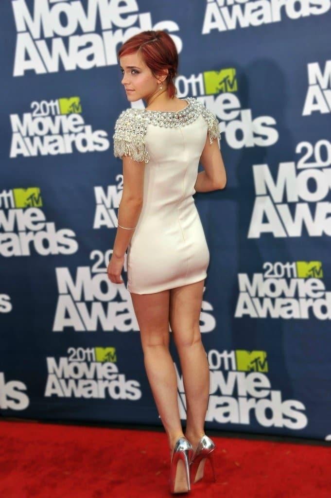 Emma Watson ass short dress