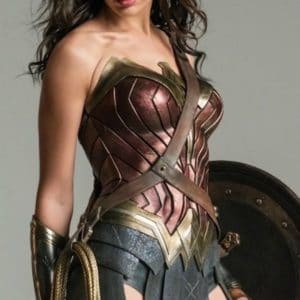 Gal Gadot as Wonder Woman with shield