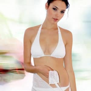 Gal Gadot in white bikini looking stunning