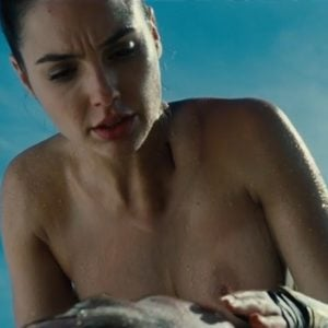 Gal Gadot topless with nipples showing