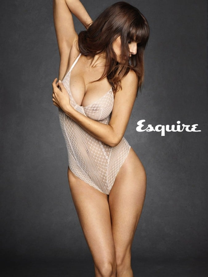 Lake Bell grabbing her one boob modeling for Esquire 2014 shoot
