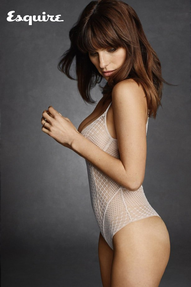 Lake Bell in Esquire 2014 magazine in hot lingerie piece
