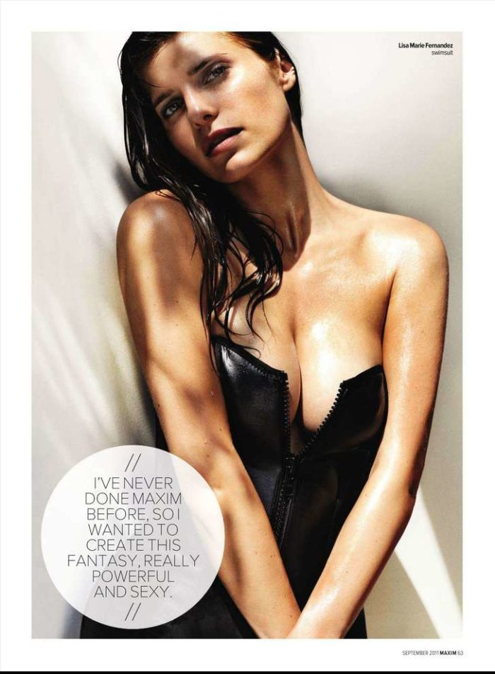 Lake Bell in Maxim 2011 showing cleavage
