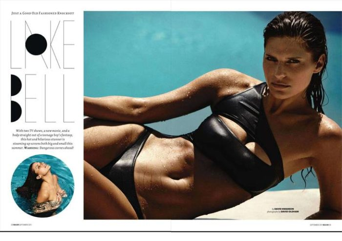 Lake Bell modeling for Maxim 2011 issue in a bikini