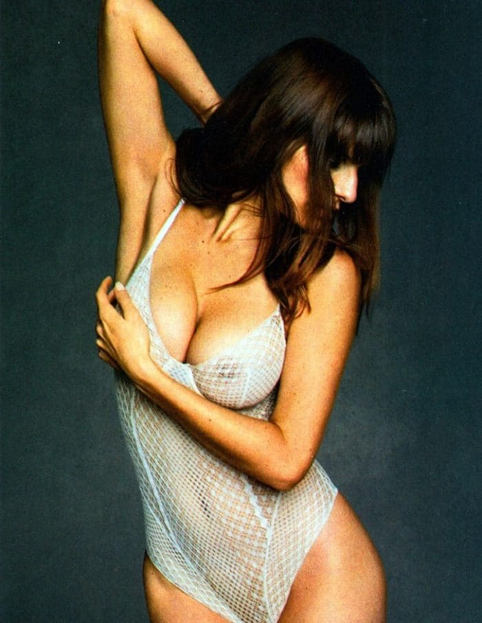 Lake Bell shows her nipples in see through body suit
