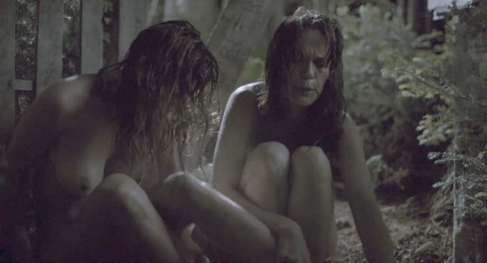 Lake Bell's boobs in Black Rock film