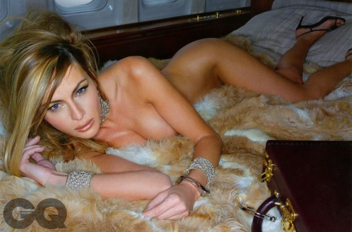 Melania Trump posing nude for QC magazine
