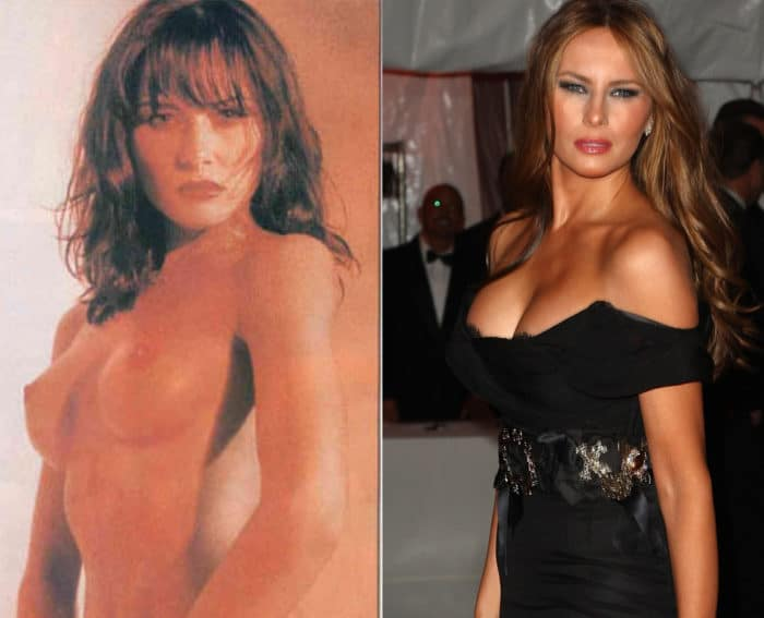 Melania Trump side by side boobs exposed