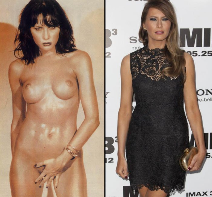 Melania Trump then and now